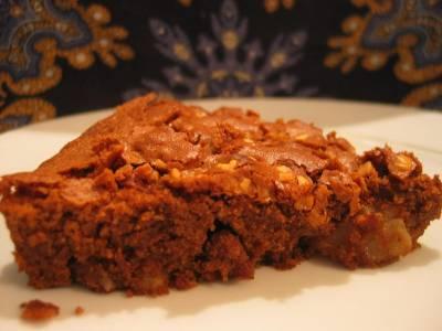Brownies au Chocolat-Poires et Noix de Pécan