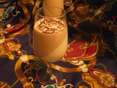 Pannacotta Vanille-Café et copeaux de chocolats