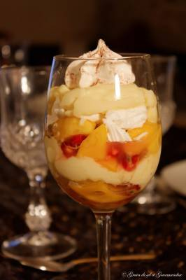 Trifle mangue et fruits de la passion