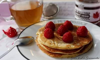 Pancakes au lait ribot (lait fermenté - buttermilk) et sirop d'érable