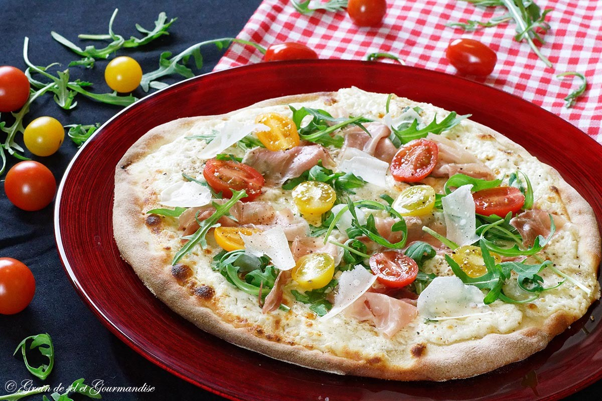 Pizza blanche mozzarella et ricotta