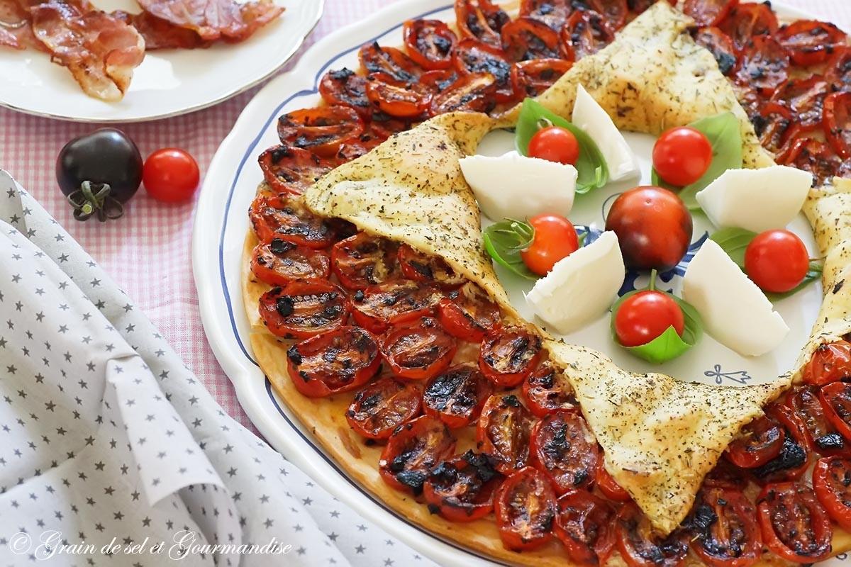 Tarte étoile aux tomates cerises