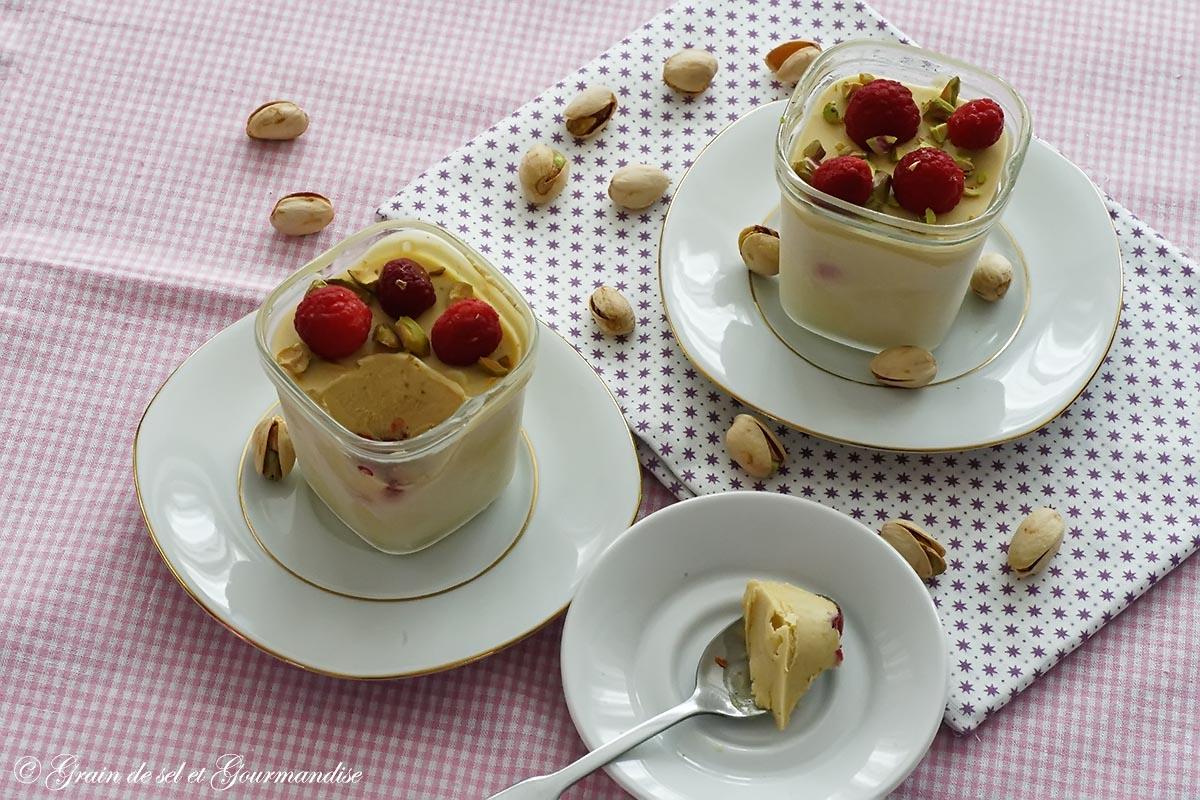 Recette Glace Pistache Sans Oeufs semifreddo pistache-framboise (parfait glacé) (sans sorbetière)