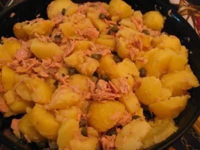 Salade de pommes de terre au thon et maquereau