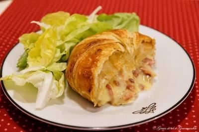 Feuilleté Au Camembert-Lardons-Oignons